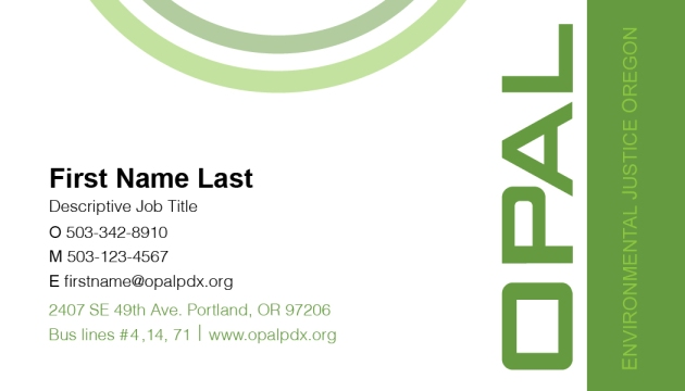 OPAL Business Card